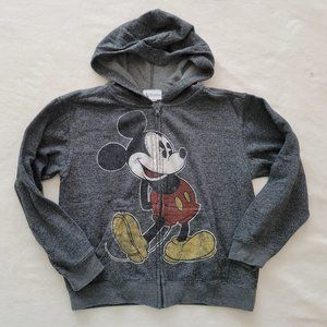 Disney Mickey Mouse Zip Hoodie Sweater, M Petite